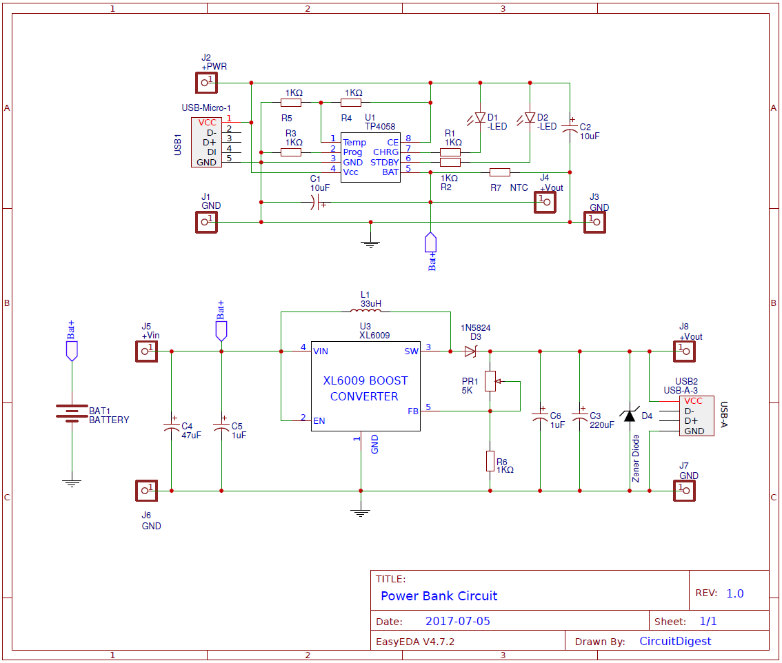 Power Bank Circuit on PCB2.png