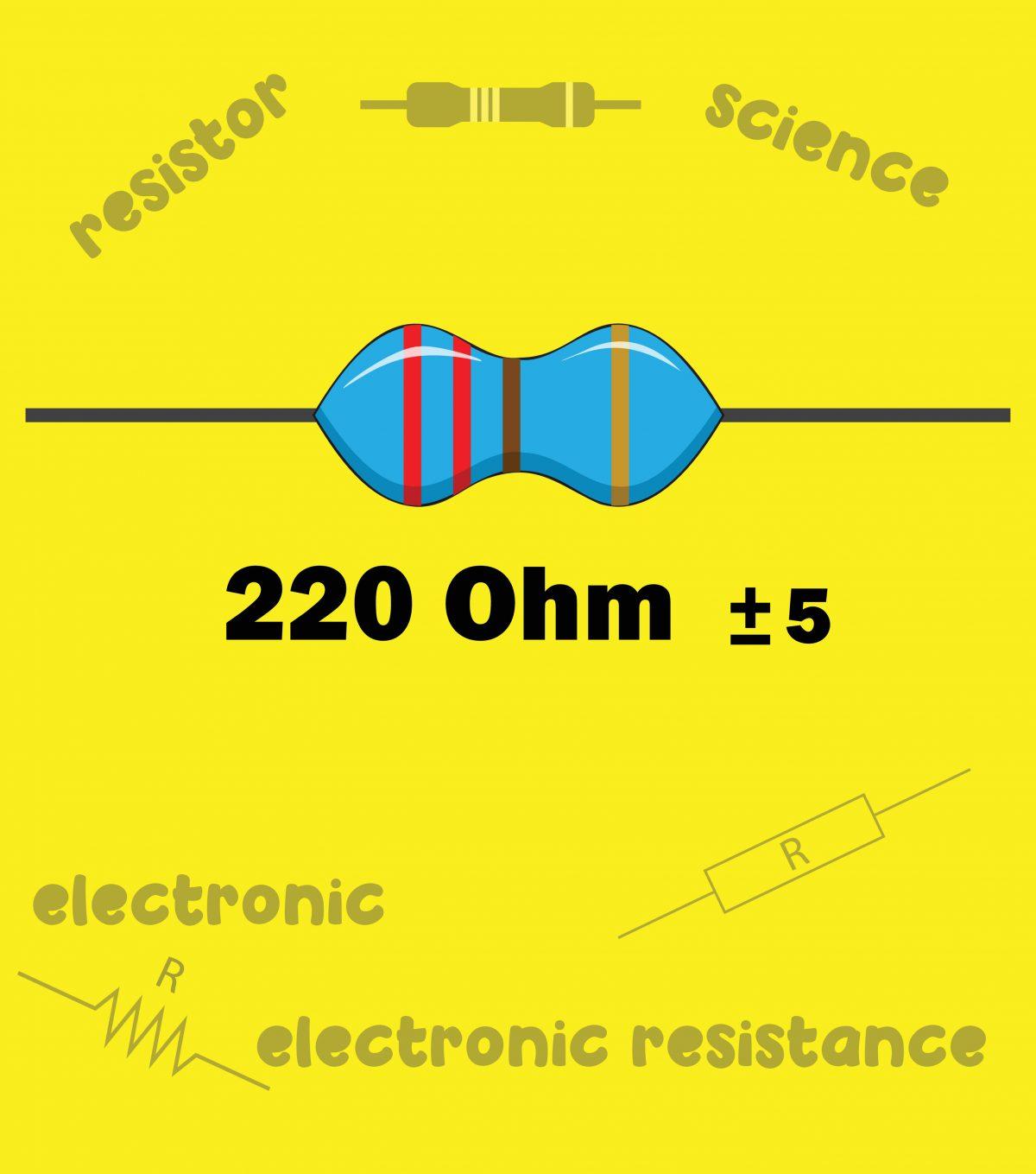 220 欧姆的电阻颜色代码