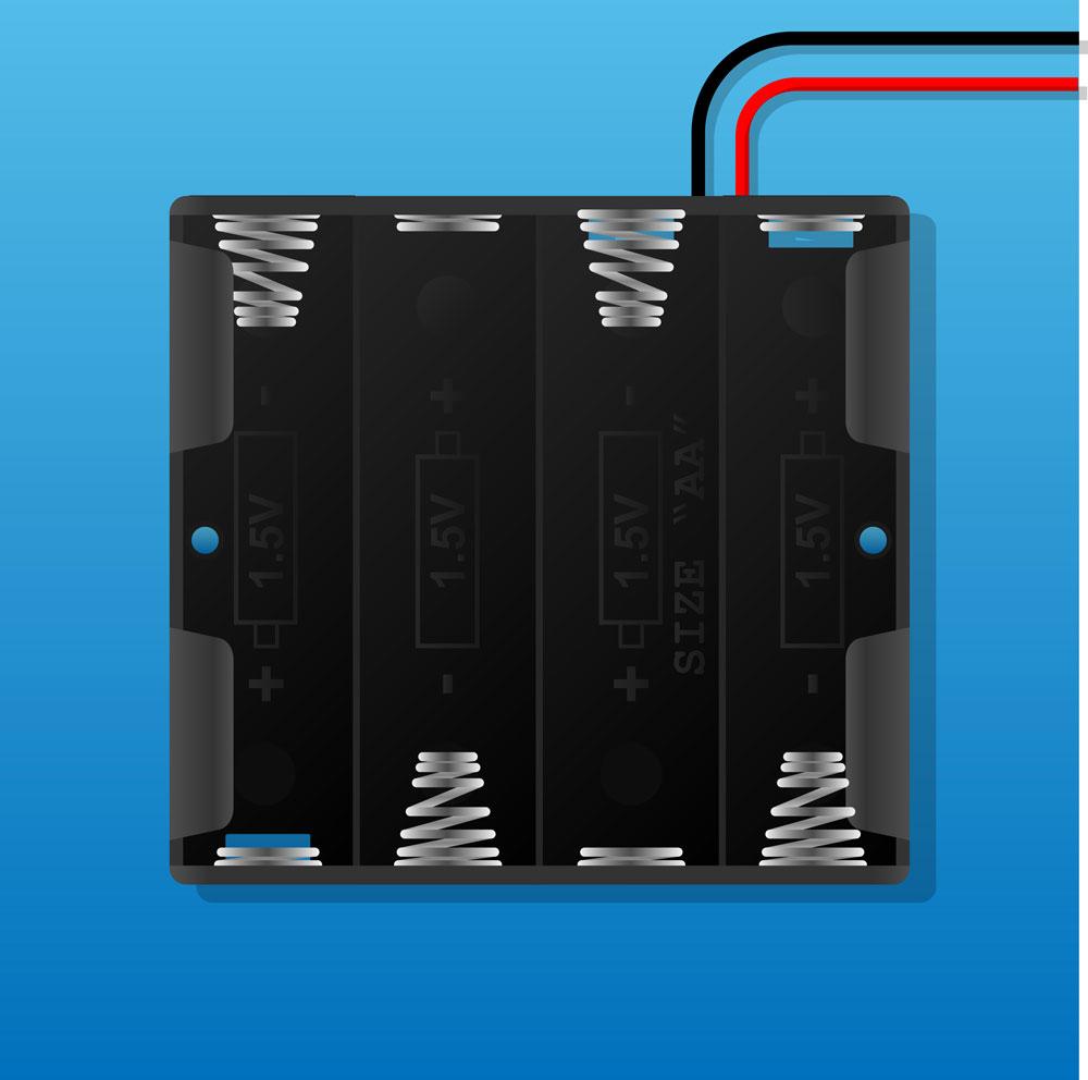 (1) Battery holder terminals