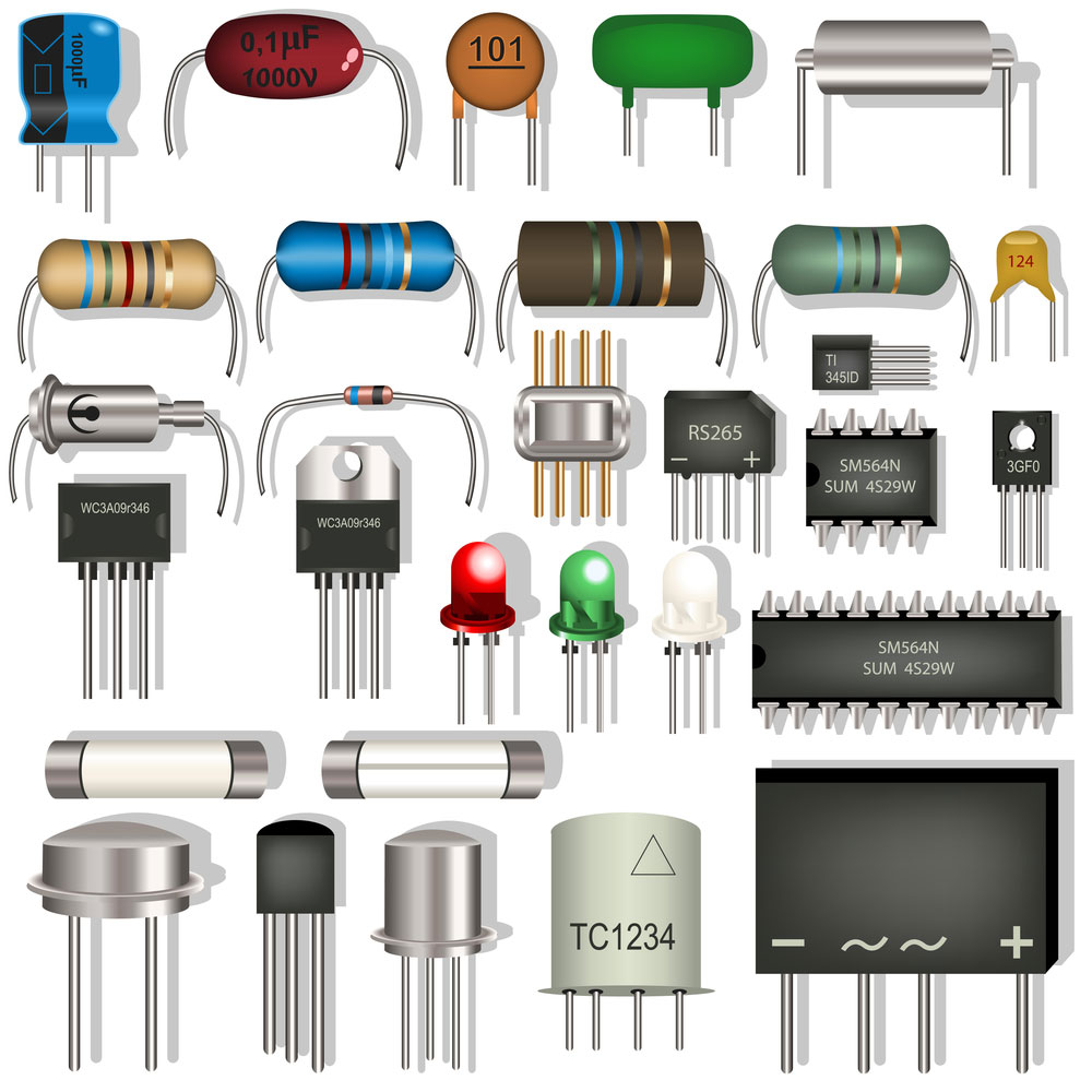 different electronic components