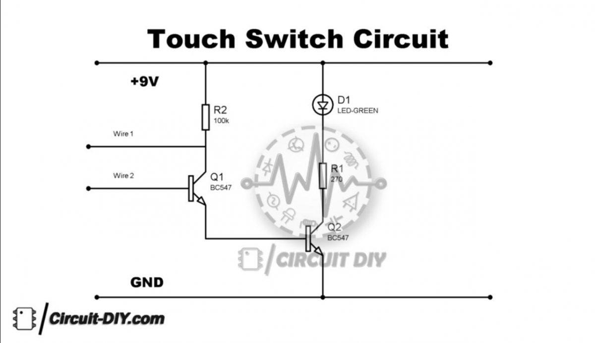 简单的触摸开关电路