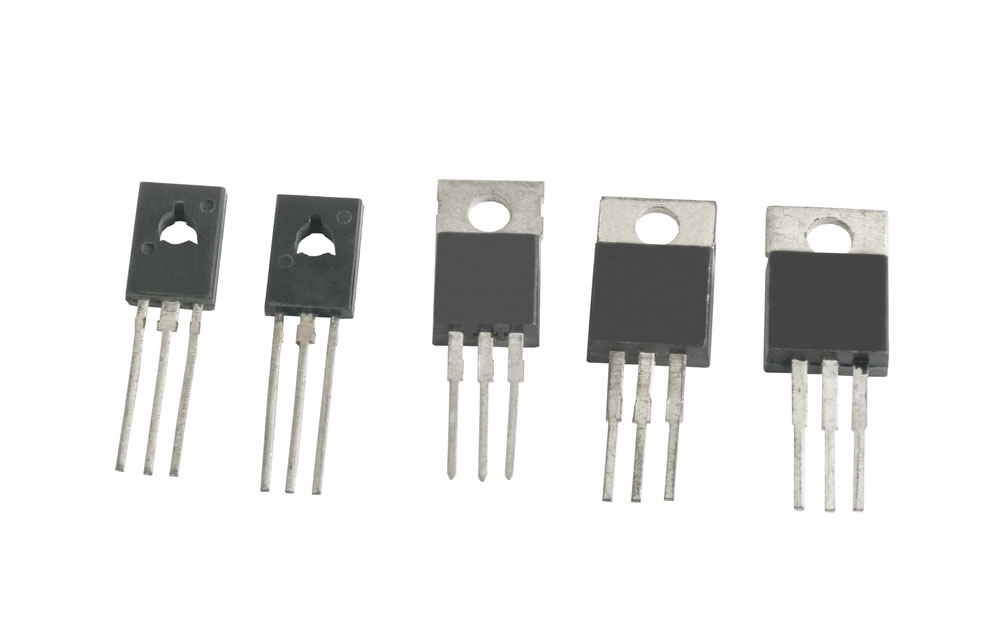 A collection of unmarked transistors