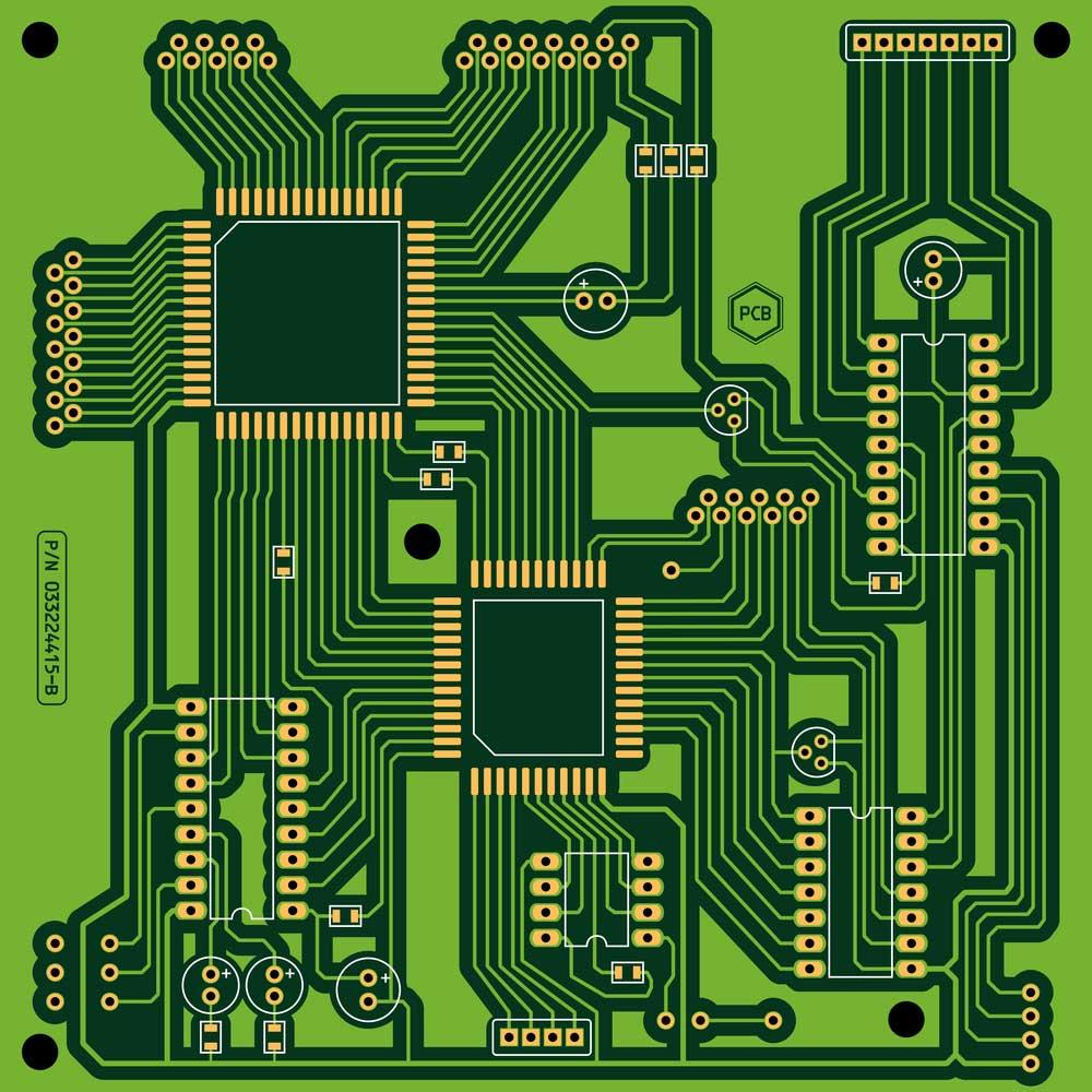 自制PCB--不含元器件的印刷电路板