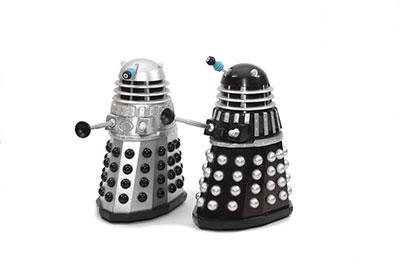 two Dalek toys