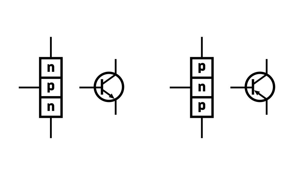 PNP和NPN晶体管之间的区别