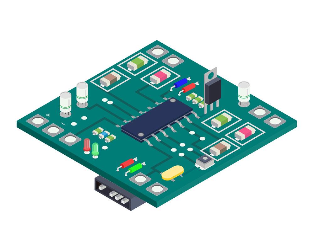 LCD TV PCB的晶体管。