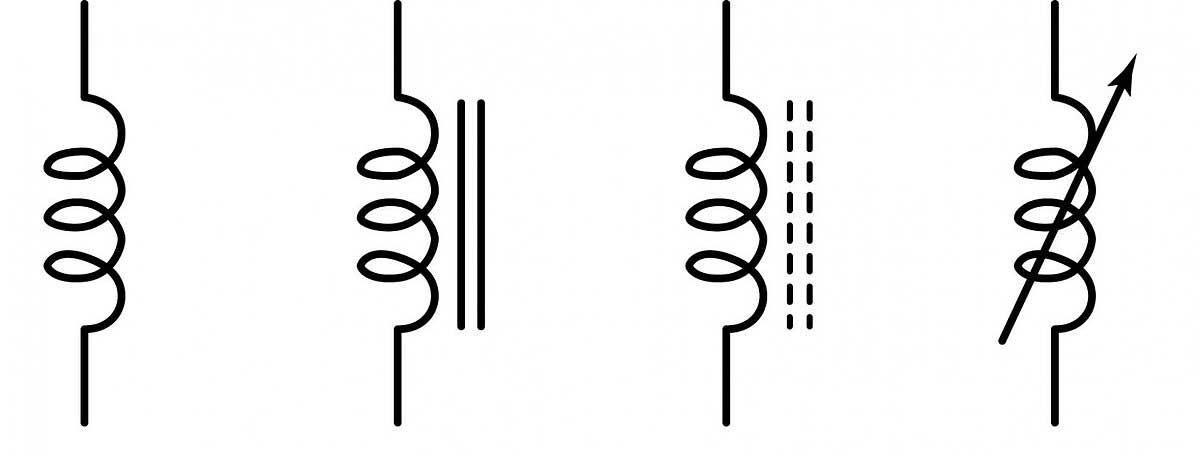 Types of Inductors--Air Core Inductor Symbol