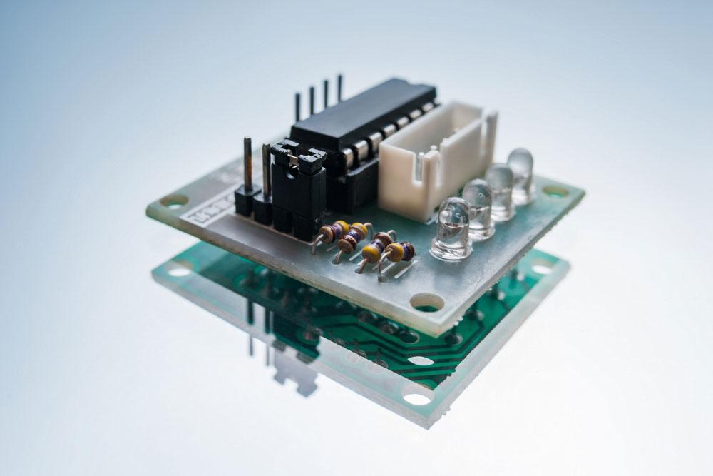 连接良好的LED定序器电路