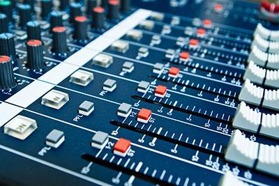 an audio mixer